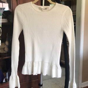 Diane Von Furstenberg white sweater